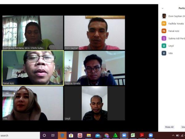 Ketua STAIN Kepri Adakan Rapat Terbatas Secara Online