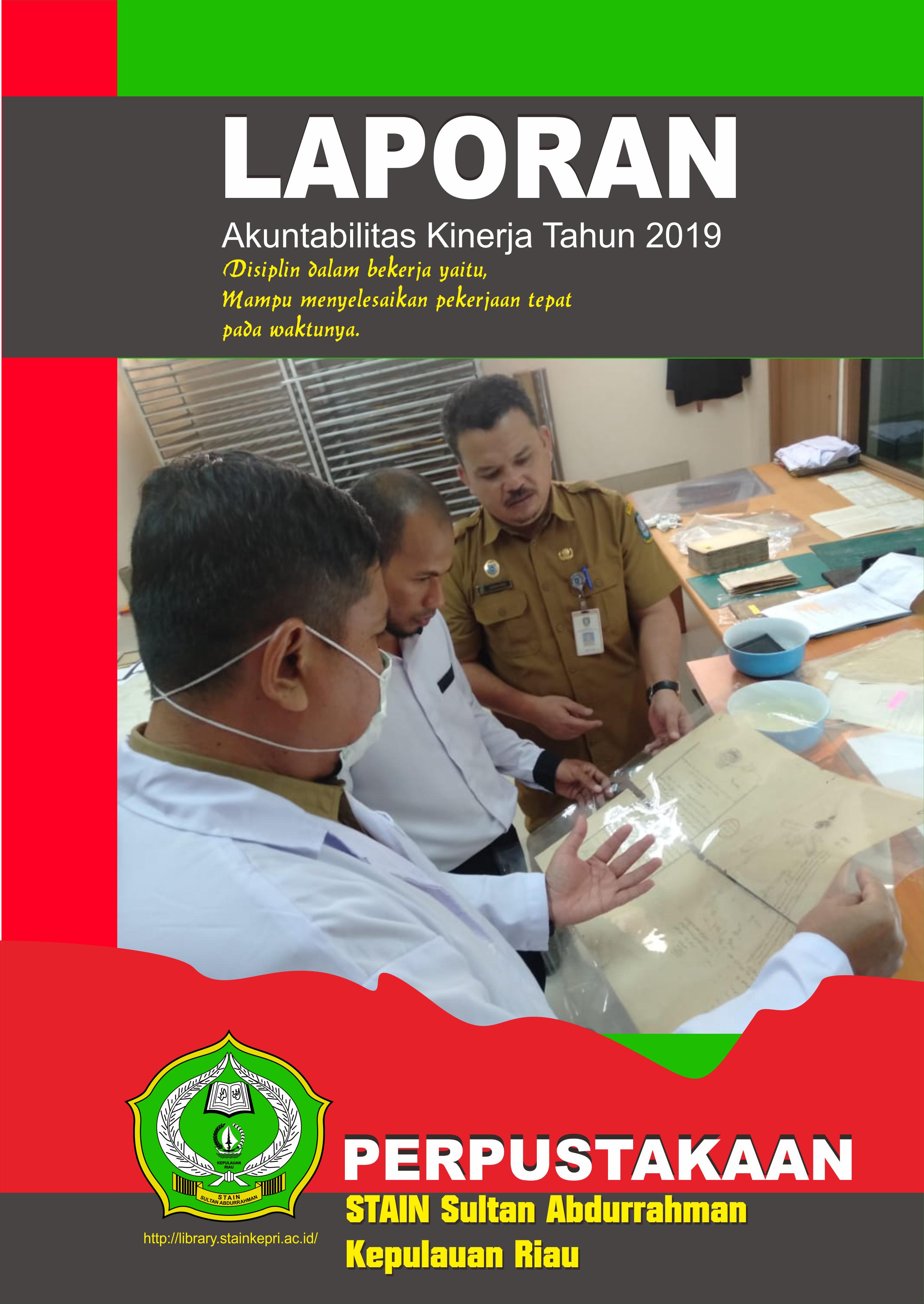 Laporan Akuntabilitas Kinerja Tahun 2019