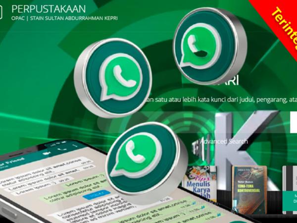 Waw OPAC STAIN Kepri Terintegrasi dengan WhatsApp